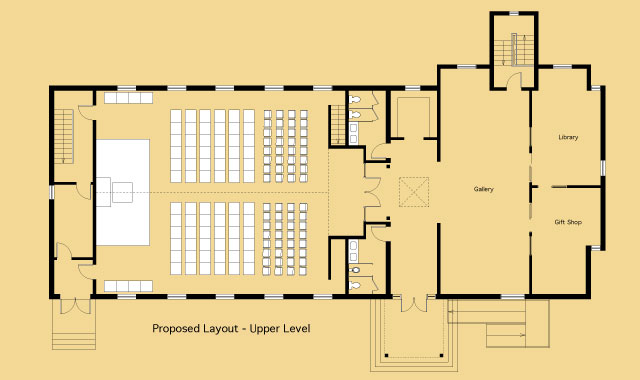 Photo multi purpose hall floor plan images 94 dining for Multi purpose building plans